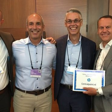 Centralpoint rewarded as HP Partner of the Year 2016 in the Netherlands